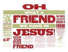 Oh what a friend we have in Jesus! Poster on what the bible says about Jesus being our friend from Easter 2012.
