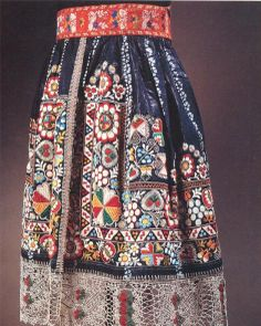 Czech folk art skirt