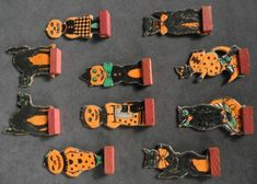 Set of 10 Different Vintage Germany Halloween Skittles Skittle Game Pieces — Halloween Collector.com