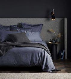 Super Soft Sateen French Blue Bed Linen | Secret Linen Store