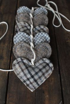 Plaid hearts.