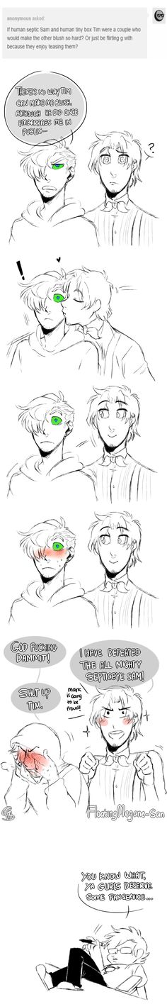 Human SES x Human TBT by FloatingMegane-san on DeviantArt >>> tell me I'm not the only one that read Tim in the voice Mark gave him XD