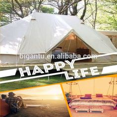 Glamping bell tent with two ultimate