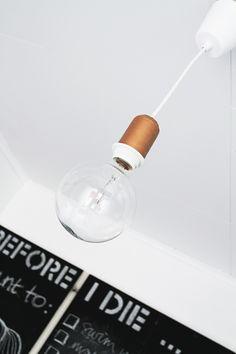 DIY copper lamp. By Smäm.