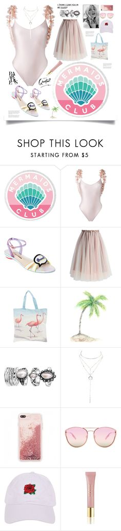 """Summertime Sadness"" by avfranz ❤ liked on Polyvore featuring La Revêche, Sophia Webster, Chicwish, Christian Louboutin, Charlotte Russe, Quay, Armitage Avenue and AERIN"
