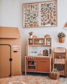 When your kitchen is way more stylish than mum's . I was planning to finish . - Ikea DIY - The best IKEA hacks all in one place Playroom Design, Kids Room Design, Playroom Ideas, Trofast Ikea, Ikea Play Kitchen, Play Kitchens, Toy Rooms, Interiores Design, Girl Room