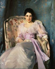 """""""Lady Agnew of Lochnaw"""" (1893) von John Singer Sargent (geboren am 12. Januar 1856 in Florenz, gestorben am 15. April 1925 in London), berühmtester US-amerikanische Porträt-Maler seiner Zeit."""