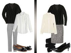 Black tweed with tights