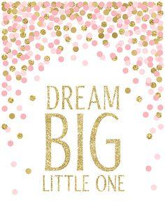Pépinière impressions Dream Big Little One que vous êtes