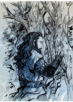 Thorin! You're so lonely you're hugging a TREE???? You need a burglar hug.