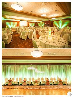 The transformation of the wedding venue for the day 2 celebration at this Sheraton at the Airport Wedding