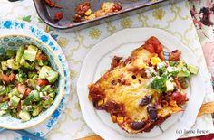 Mexikanische Lasagne mit Avocado-Salsa Guacamole, Tex Mex, Lasagna, Salsa, Avocado, Pizza, Cooking, Ethnic Recipes, Food