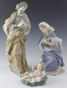 Lladro Porcelain Nativity