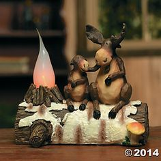 Moose Home Decor | Moose Candle Lamp
