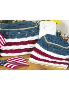 Americana Toaster and Can Opener Covers - Americana Toaster and Can Opener Covers    Decorate your kitchen for the Fourth of July with our pair of all-American covers!  Designed by Sharon Fotta Anderson  free pdf from free-crochet.com  (I bet I would find different uses for these.)