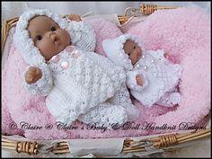 """Hooded Coat & Leggings Set 5 & 8"""" Chubby Berenguer dolls-knitting pattern, berenguer"""