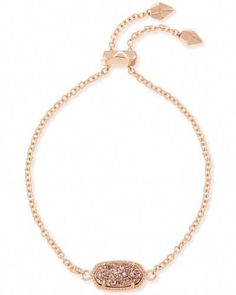 Whether you like your bracelets loose or close to the wrist, our Elaina Rose Gold Adjustable Chain Bracelet in Rose Gold Drusy is a delicate addition to any arm party. Stone Jewelry, Diamond Jewelry, Jewelry Bracelets, Gold Jewelry, Chain Bracelets, Gold Bangle Bracelet, Ankle Bracelets, Silver Bangles, Sterling Silver Bracelets