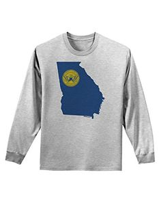 TooLoud Atlanta Georgia Flag Adult Long Sleeve Shirt - Ash Gray - Medium<div><div>Show your pride for the great city of Atlanta with this print. These fun printed garments are a great personal touch on you, or as a gift to a friend or loved one! Great for all-year-round too! Colors may differ from image, as each monitor is made and calibrated differently.</div><ul><li>Loose, unisex fit. USA Standard Mens Sizing. See size chart (set as secondary image)</li><li>Print may be placed or sized…