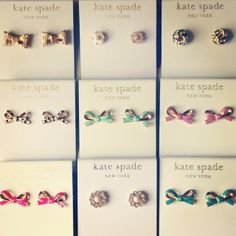 kate spade earrings bows and flowers delicate studs Cute Jewelry, Jewelry Accessories, Fashion Accessories, Fashion Jewelry, Jewlery, Baby Jewelry, Sweet Southern Prep, Kate Spade Earrings, Tiny Earrings
