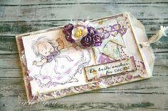 dinfantasi.no: Dåpskort - motiv fargelagt med Chameleon