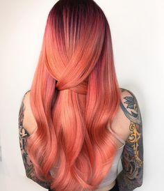 Did you guys see this babes selfie in my stories?! Because holy crap!!!! B. A. B. E.  Alert! @lillyliketheflower  ps.  This is the new @pravana #crystalcollection in Sunstone  I could die  #modernsalon #americansalon #behindthechair #pravanacollective #pravana #hotonbeauty #imallaboutdahair #pdx #pdxstylist #rosegold #thereisonlyone