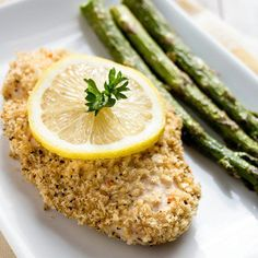 Recipe: Skinny Lemon Chicken - I added some parmesan cheese to the breadcrumb mixture