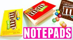 DIY M&M Candy Notepads from Scratch | DIY School Supplies EASY