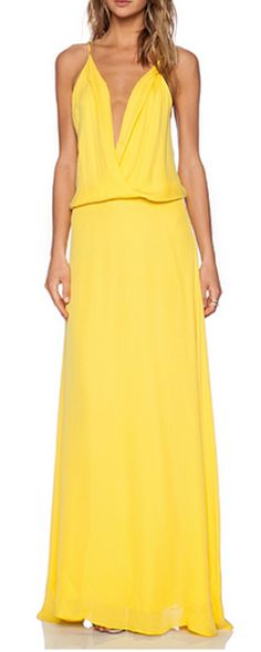 Cami wrap gown