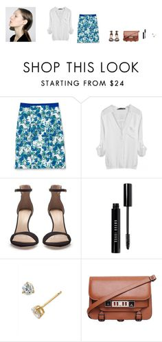"""""""Untitled"""" by midnightteatime ❤ liked on Polyvore featuring Club Monaco, Zara, Bobbi Brown Cosmetics, Nordstrom and Proenza Schouler"""