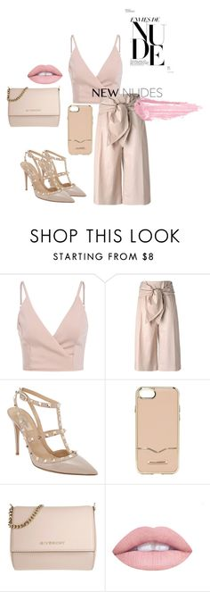 """nudes from head to toe"" by jamreynon on Polyvore featuring MSGM, Valentino, Rebecca Minkoff, Givenchy and By Terry"