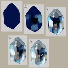 Step-by-step on how to paint diamond