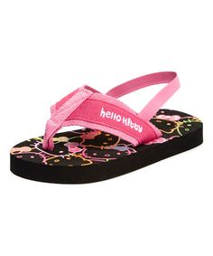 Another great find on #zulily! Black Hello Kitty Slingback Sandal - Kids by Hello Kitty #zulilyfinds
