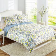 Better Homes and Gardens Elements Multi-Color Geometric 3-Piece Bedding Comforter Set, Multicolor