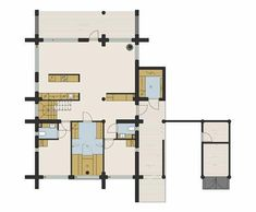 Näytä kuva suurempana uudessa ikkunassa Villa, Floor Plans, House, Home, Fork, Villas, Homes, Floor Plan Drawing, Houses