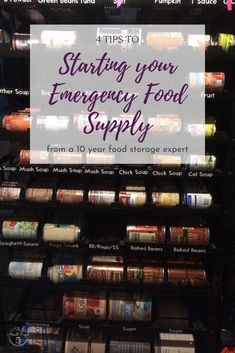10 years food storage expert shares her 4 tips to starting with emergency food storage. 4 tips to starting an emergency food supply after 10 years trial. How to start a disaster food supply.