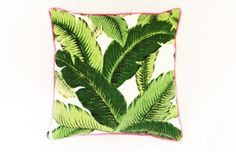 Image of Palm Beach Lately Banana Leaf Pillow