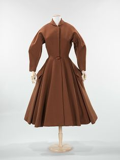 """Cossack"" Coat Dress, Charles James (American, born Great Britain, 1906–1978): 1951, American, wool."