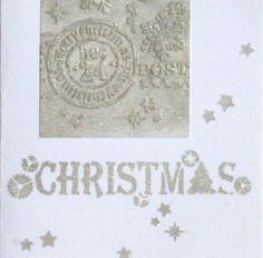 Weihnachtsinspiration No. 3. gestaltet mit Papier-Reliefpaste, 3D-Stempel-Farbe und Schablonen von Viva Decor - Daniela Rogall