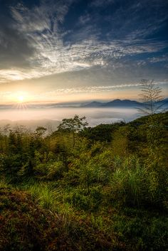 ~~Rise to a New Beginning | a foggy sunrise, Yuchih Town, Taiwan | by George Becker~~