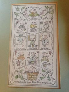 Sara Midda Framed Print Table Manners For Children Signed Rare in Art, Art from Dealers & Resellers, Prints | eBay