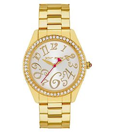 Betsy Johnson Watch, such FUN!! I would LOVE a gold one!! :)