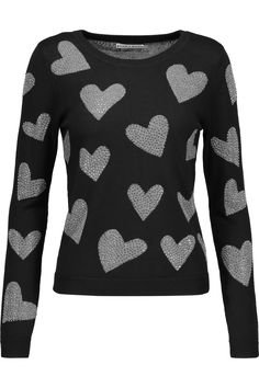 ALICE AND OLIVIA Carey studded intarsia wool sweater. #aliceandolivia #cloth #sweater