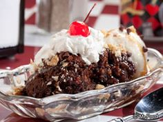 Roast Cherry Dark Chocolate Brownie Sundaes Recipes — Dishmaps