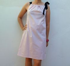 pinafili: Pinafili Films. Vestido pillow dress para principiantes ( patrón incluido ).