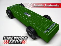 Pinewood Derby Car  Graphics Seattle Seahawks Football