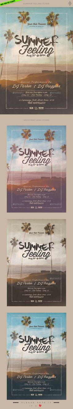 Summer Feeling Flyer Template PSD. Download here: http://graphicriver.net/item/summer-feeling-flyer/16511846?ref=ksioks