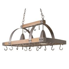 What I Love About My Kitchen Pot Rack Pulley And Herbs. 15 Ideas Of Pot Rack With Lights Fixtures. 36 Best Repurposed Old Ladder Ideas And Designs For Home and Family Pot Rack Hanging, Hanging Pots, Kitchen Pans, Kitchen Wood, Kitchen Island Pot Rack, Kitchen Storage, Pot Storage, Copper Kitchen, Kitchen Islands
