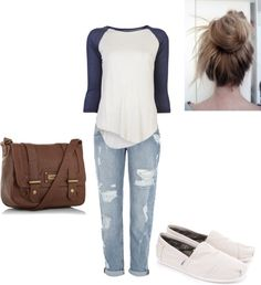 """Baseball Casual"" by smstigen on Polyvore Baseball Outfits, Dress Me Up, What To Wear, Fashion Ideas, Cute Outfits, Slip On, Comfy, Rock, My Style"