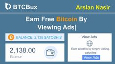 BTCBux.io - Earn Free Bitcoin By Viewing Ads | Earn Daily $100 Live Proo... Bitcoin Bot, Earn Btc, Bitcoin Generator, Earn Money Online, Internet Marketing, Investing, How To Make Money, The 100, Zero