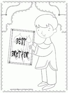 best brother diwali colouring page